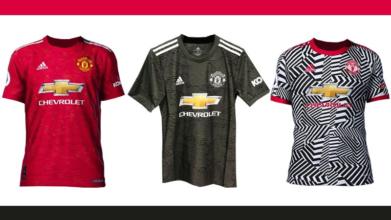 leaked manchester uniteds 2020 21 season home away and 3rd kits manchester uniteds 2020 21 season home